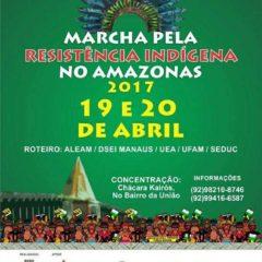 Marcha pela Resistência Indígena no Amazonas