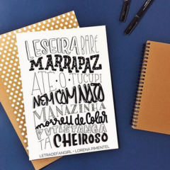 Oficina de hand lettering com Lorena Pimentel sábado